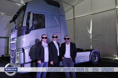 photocall invite lancement nouveau camion Volvo Trucks entreprise Lyon